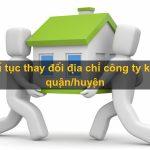 Thay đổi địa chỉ công ty tại Vĩnh Phúc